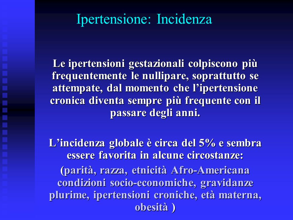 Ipertensione: Incidenza