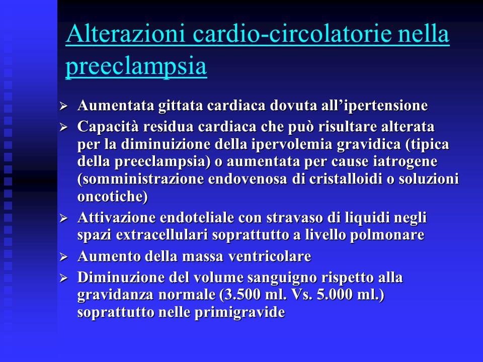Alterazioni cardio-circolatorie nella preeclampsia