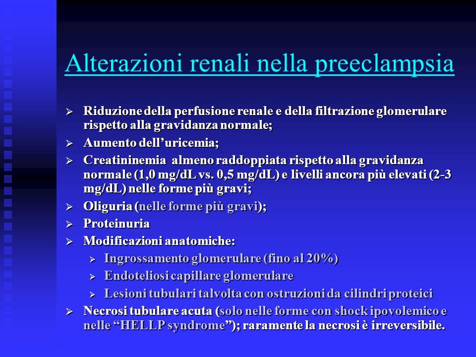 Alterazioni renali nella preeclampsia