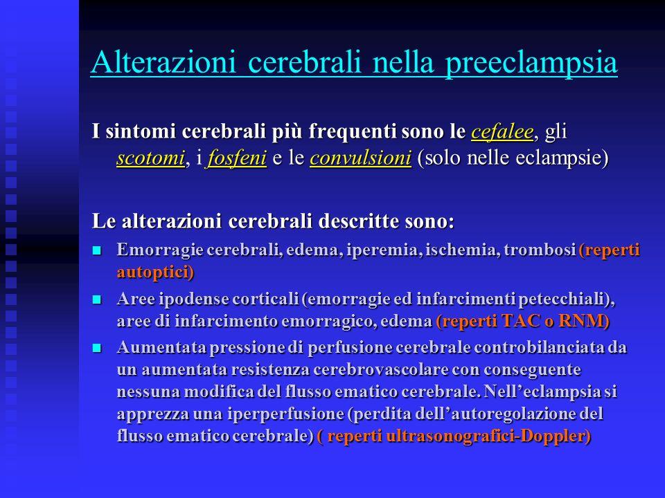 Alterazioni cerebrali nella preeclampsia