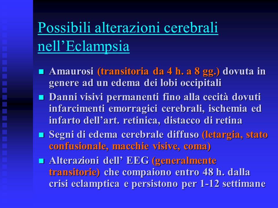 Possibili alterazioni cerebrali nell'Eclampsia