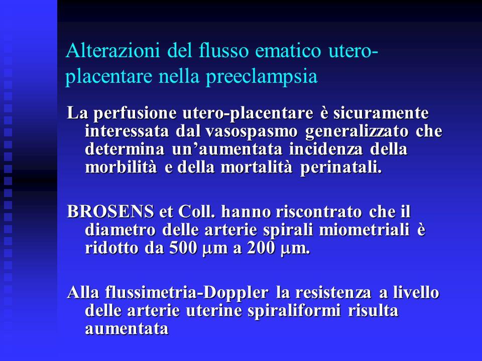 Alterazioni del flusso ematico utero-placentare nella preeclampsia