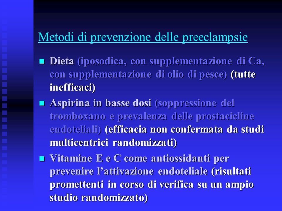 Metodi di prevenzione delle preeclampsie