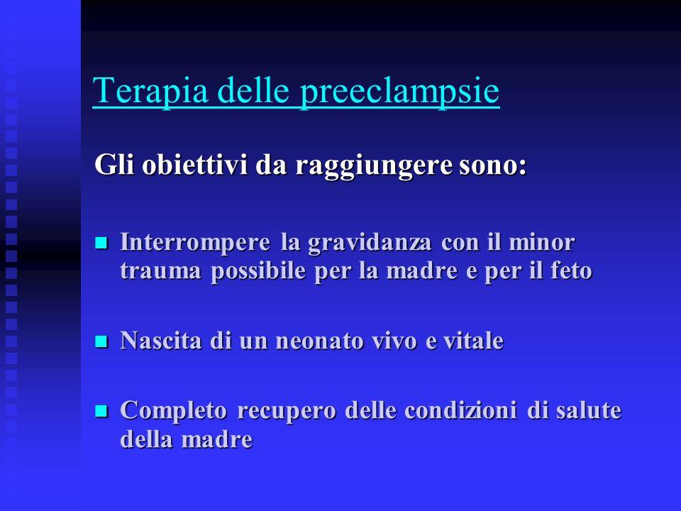 Terapia delle preeclampsie