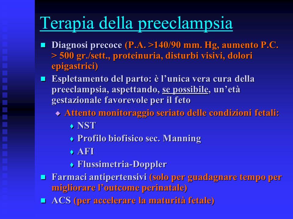 Terapia della preeclampsia
