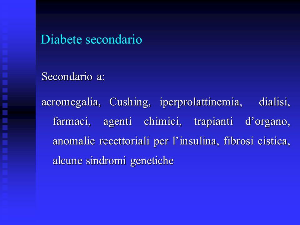 Diabete secondario Secondario a: