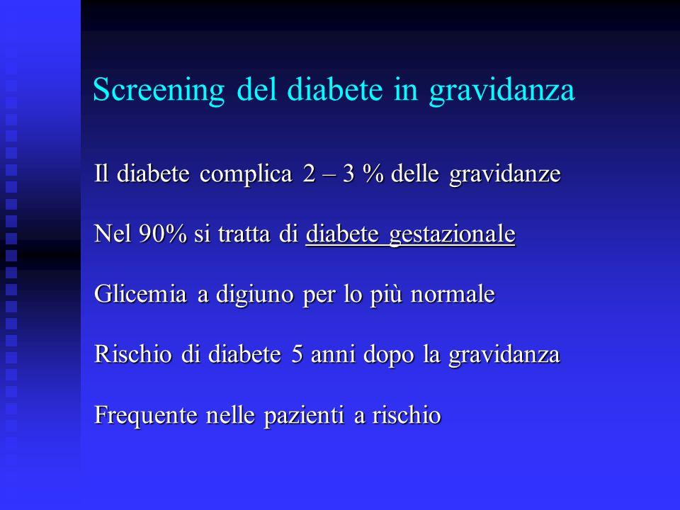 Screening del diabete in gravidanza