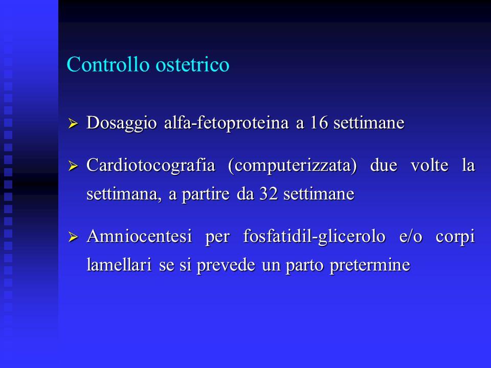 Controllo ostetrico Dosaggio alfa-fetoproteina a 16 settimane