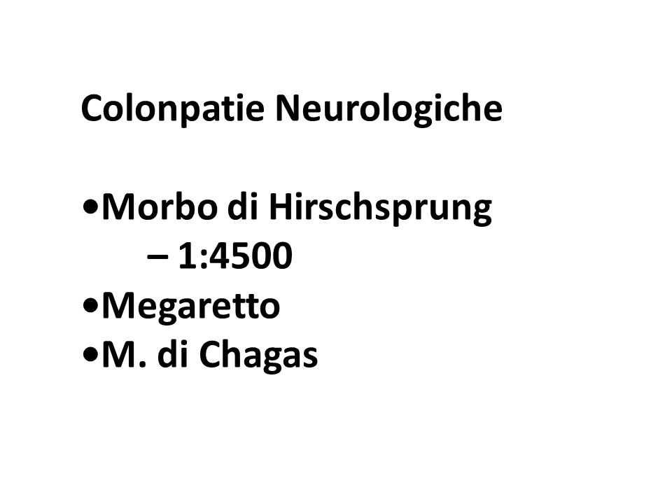 Colonpatie Neurologiche