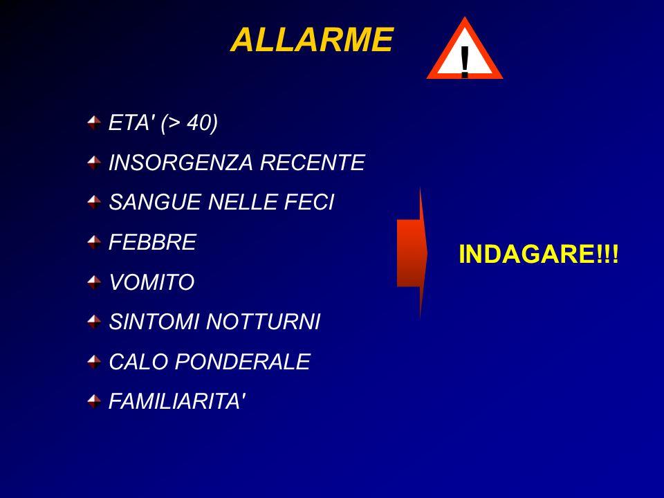 ! ALLARME INDAGARE!!! ETA (> 40) INSORGENZA RECENTE