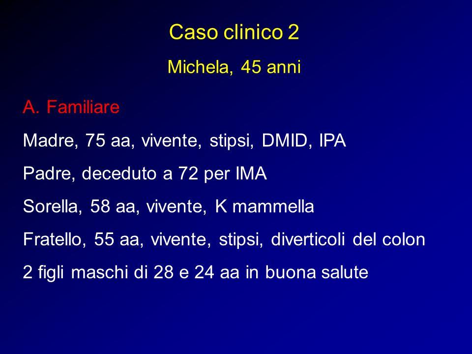 Caso clinico 2 Michela, 45 anni Familiare
