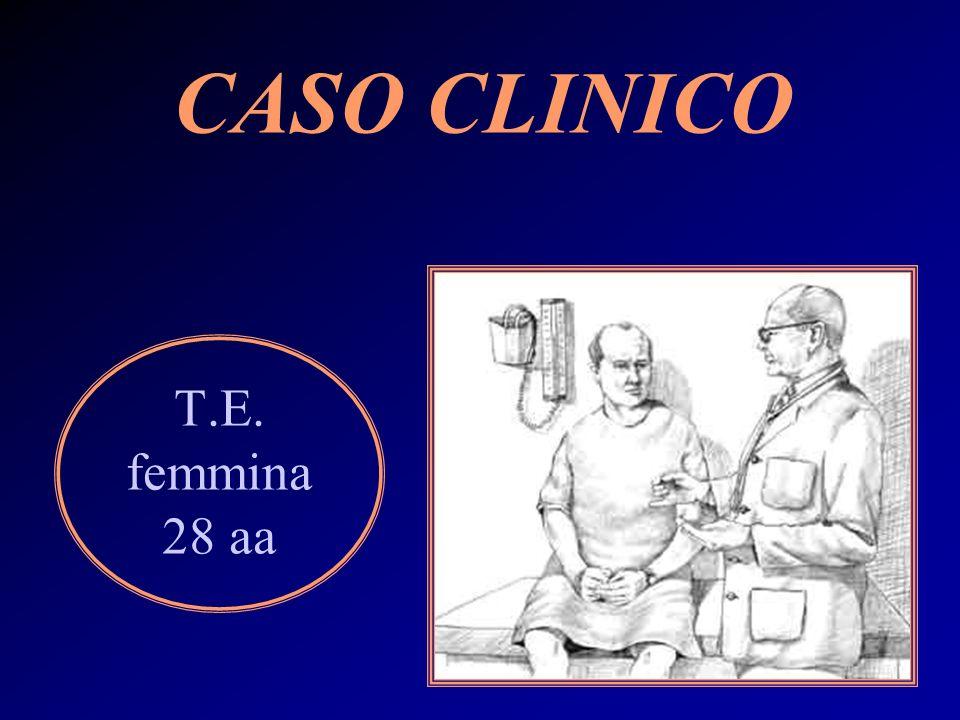 CASO CLINICO T.E. femmina 28 aa