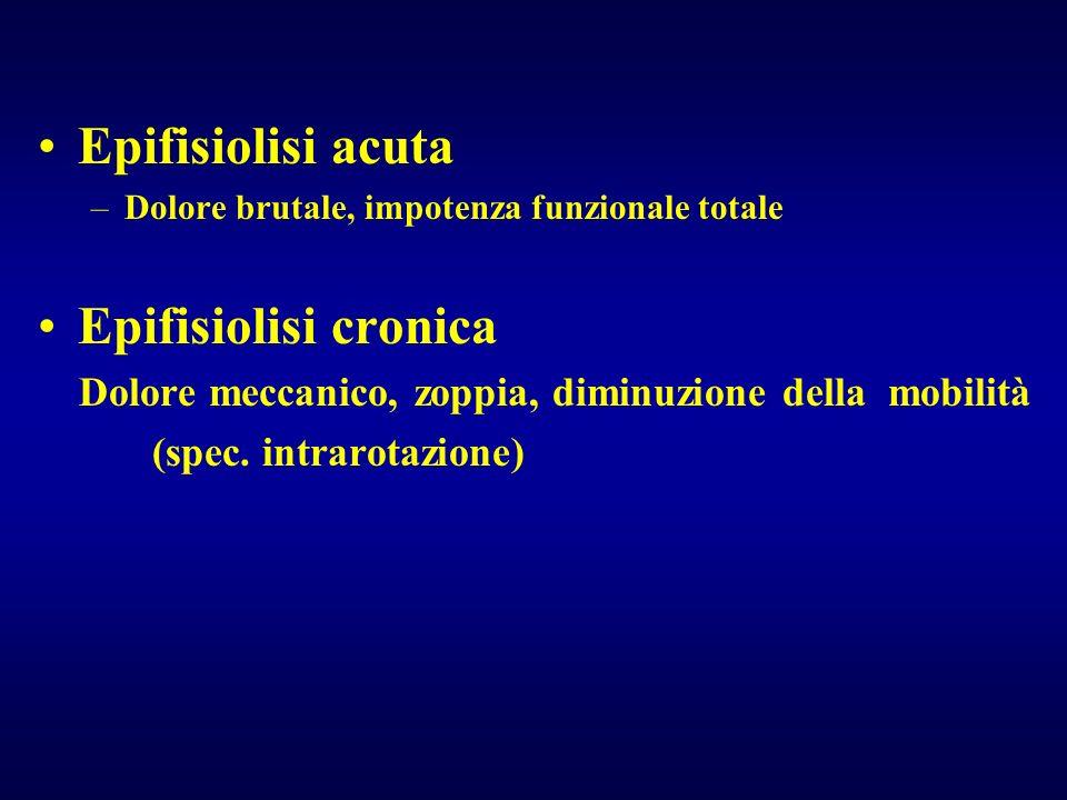 Epifisiolisi acuta Epifisiolisi cronica