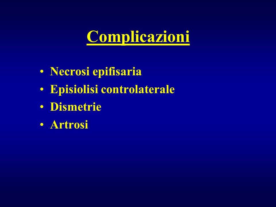 Complicazioni Necrosi epifisaria Episiolisi controlaterale Dismetrie