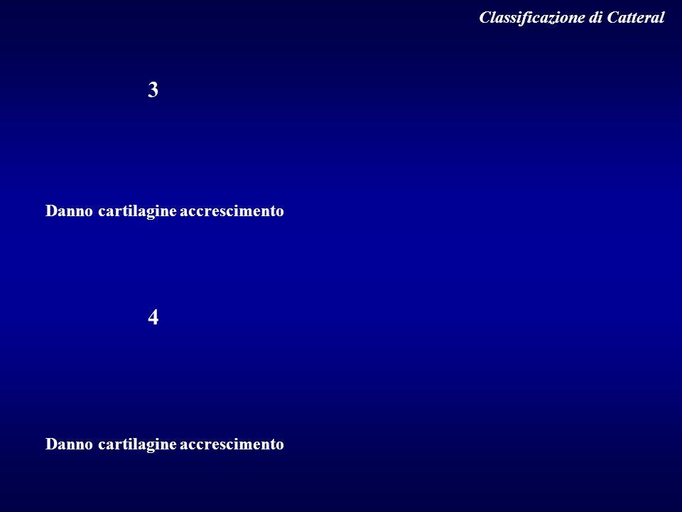 3 4 Classificazione di Catteral Danno cartilagine accrescimento