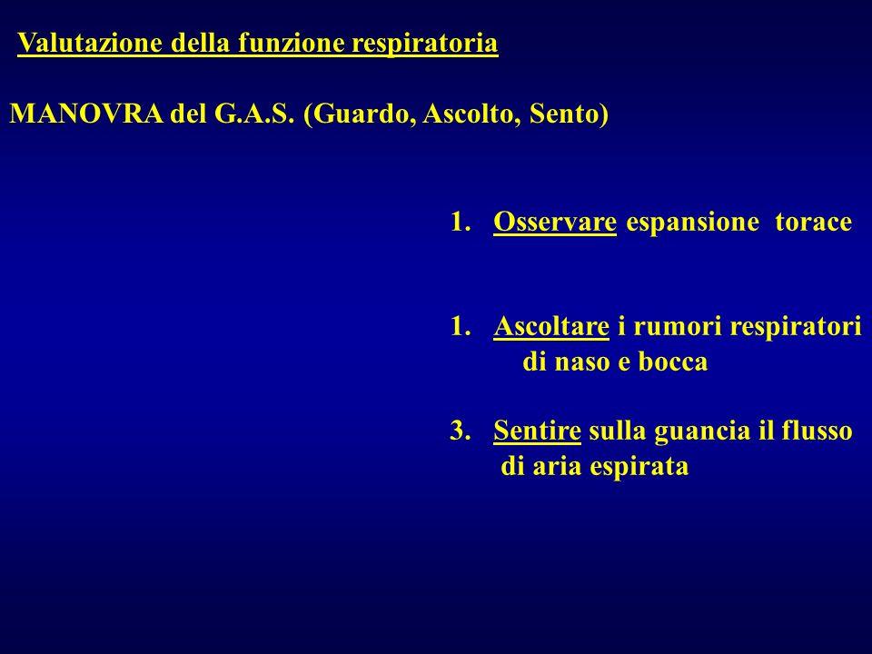 Valutazione della funzione respiratoria