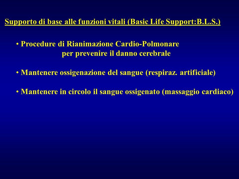 Supporto di base alle funzioni vitali (Basic Life Support:B.L.S.)