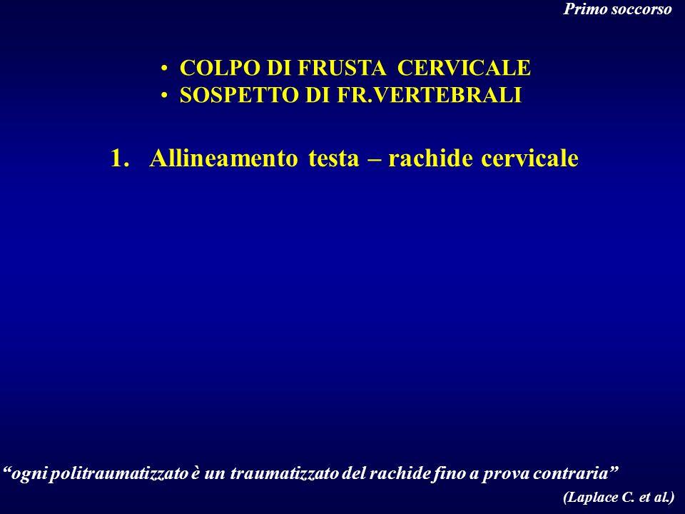 Allineamento testa – rachide cervicale