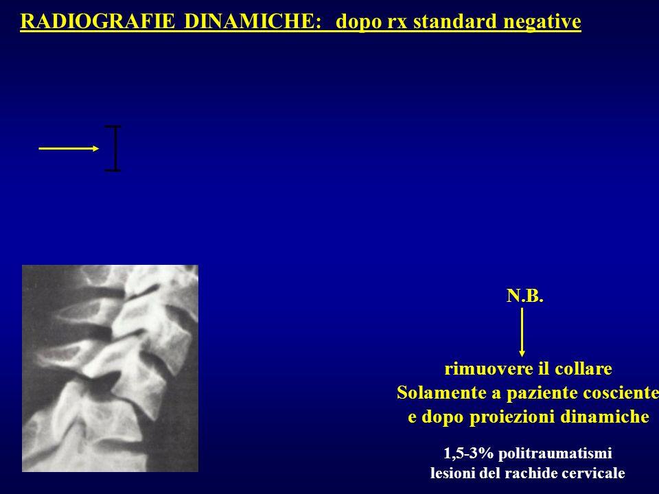 RADIOGRAFIE DINAMICHE: dopo rx standard negative