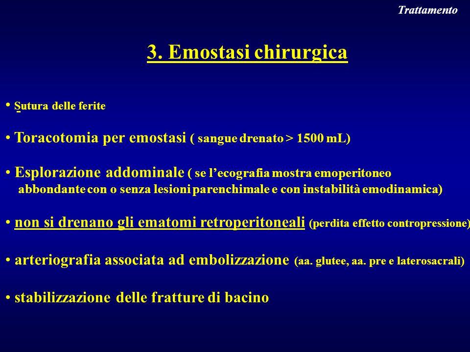3. Emostasi chirurgica Sutura delle ferite