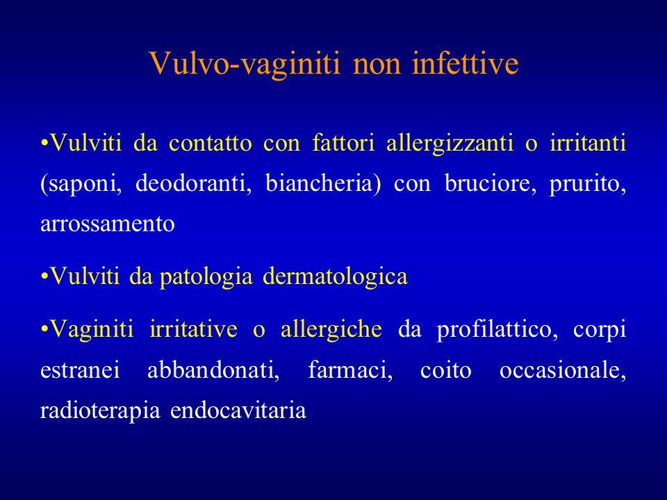 Vulvo-vaginiti non infettive