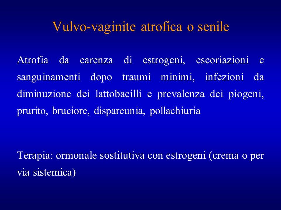 Vulvo-vaginite atrofica o senile