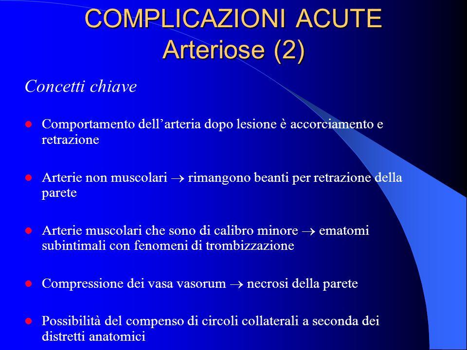 COMPLICAZIONI ACUTE Arteriose (2)