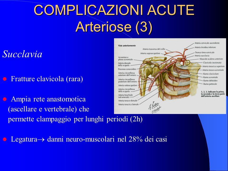 COMPLICAZIONI ACUTE Arteriose (3)
