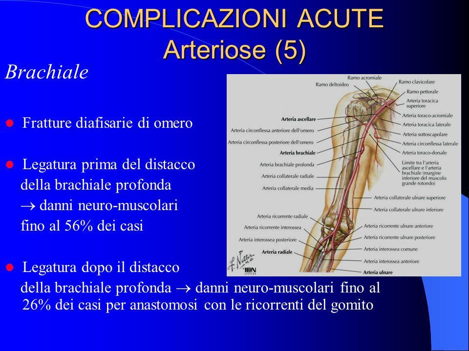 COMPLICAZIONI ACUTE Arteriose (5)