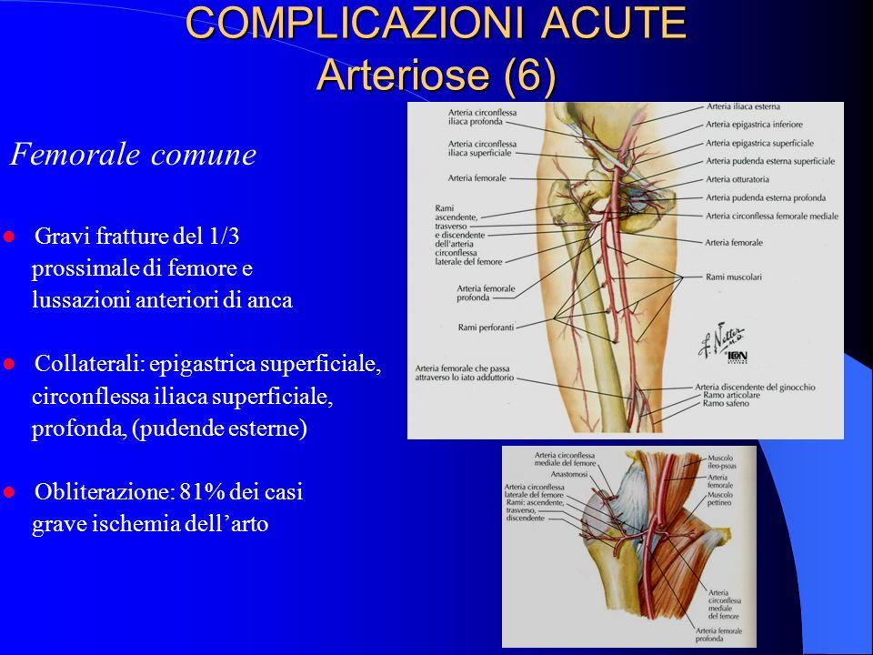 COMPLICAZIONI ACUTE Arteriose (6)
