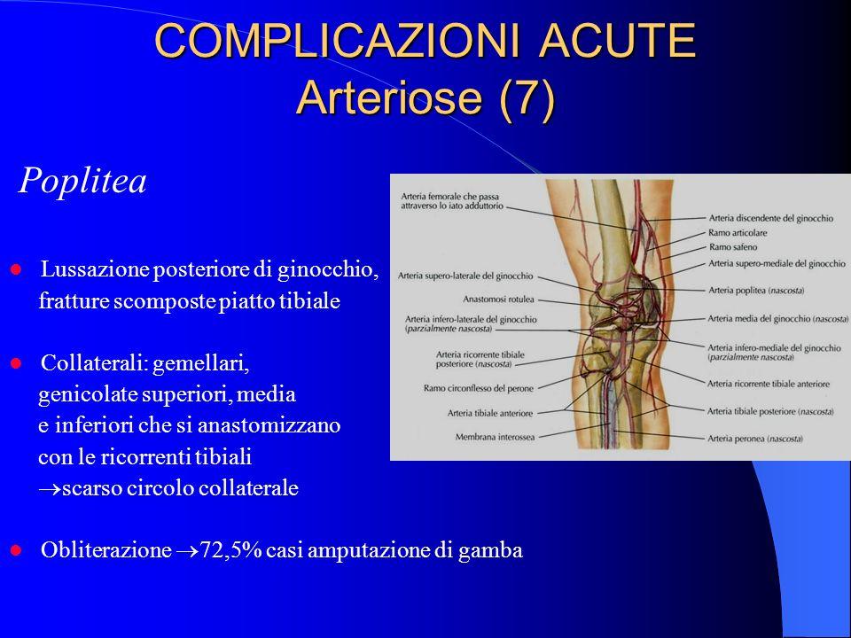 COMPLICAZIONI ACUTE Arteriose (7)