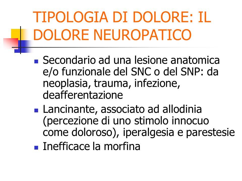 TIPOLOGIA DI DOLORE: IL DOLORE NEUROPATICO