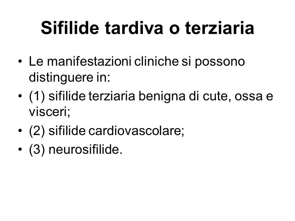 Sifilide tardiva o terziaria