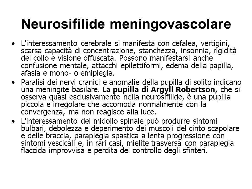 Neurosifilide meningovascolare