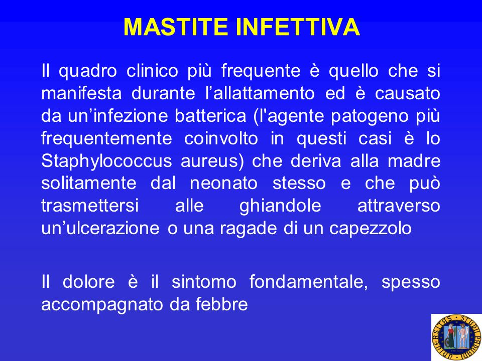 MASTITE INFETTIVA