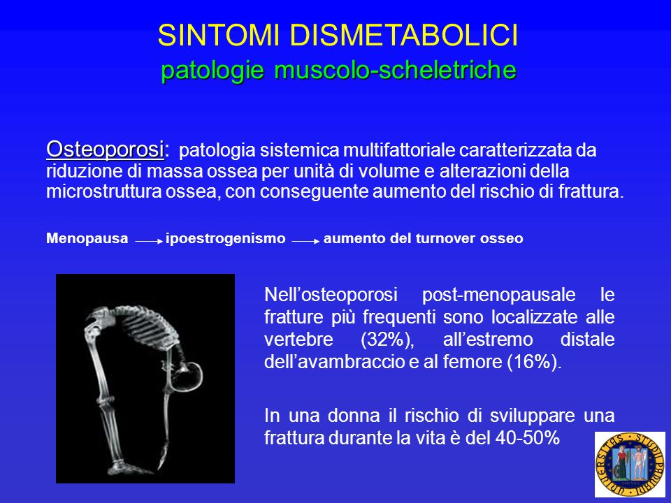 SINTOMI DISMETABOLICI patologie muscolo-scheletriche
