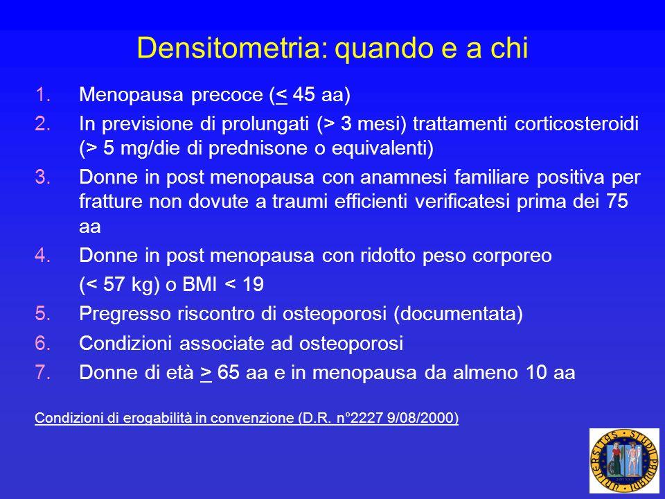 Densitometria: quando e a chi
