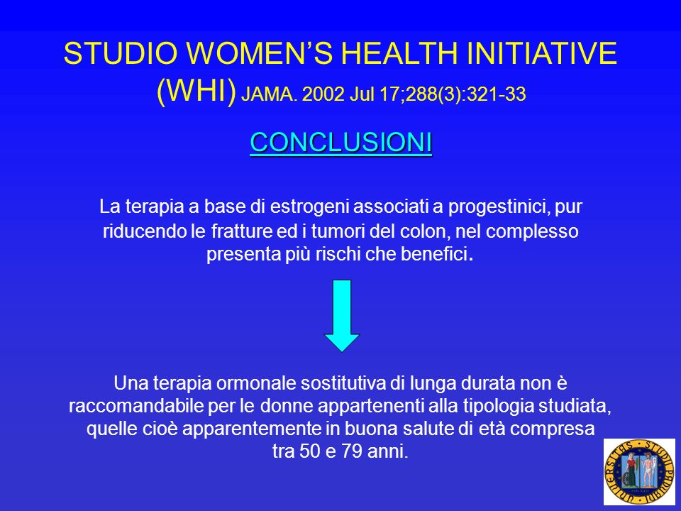 STUDIO WOMEN'S HEALTH INITIATIVE (WHI) JAMA. 2002 Jul 17;288(3):321-33