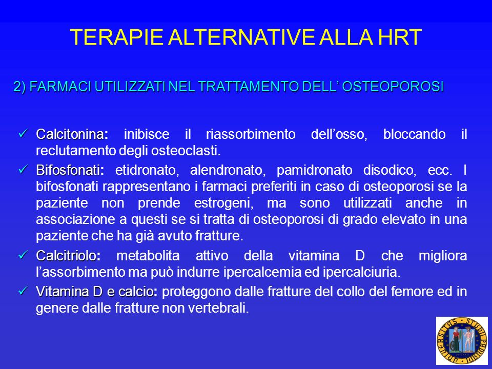 TERAPIE ALTERNATIVE ALLA HRT