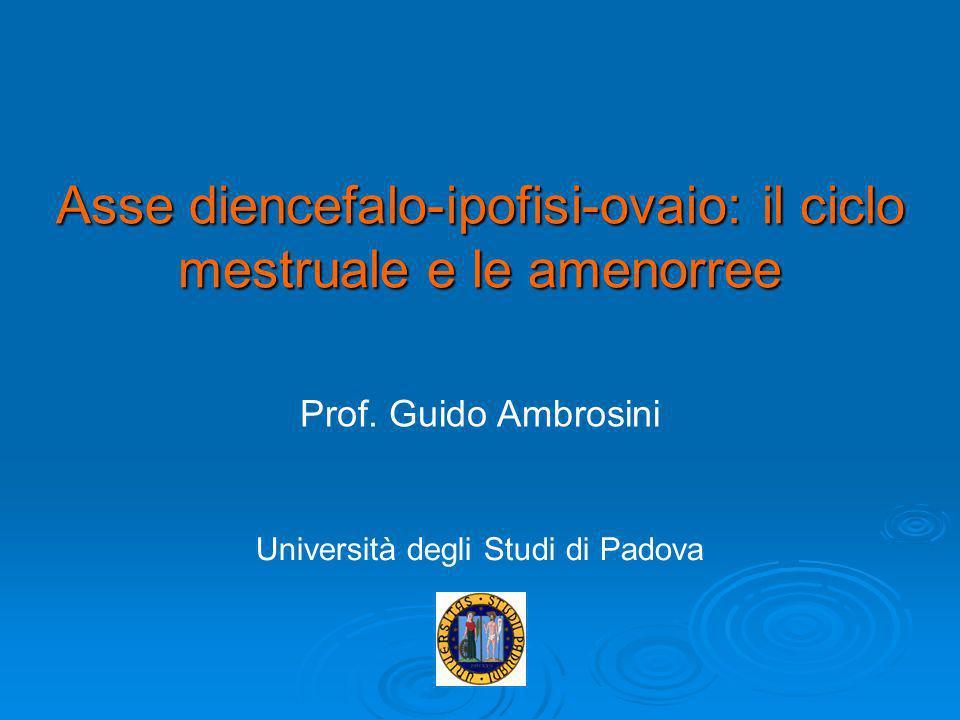Asse diencefalo-ipofisi-ovaio: il ciclo mestruale e le amenorree