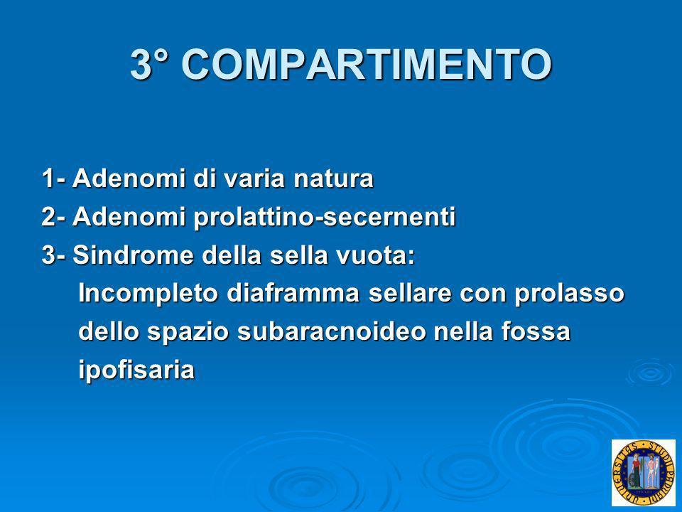 3° COMPARTIMENTO 1- Adenomi di varia natura