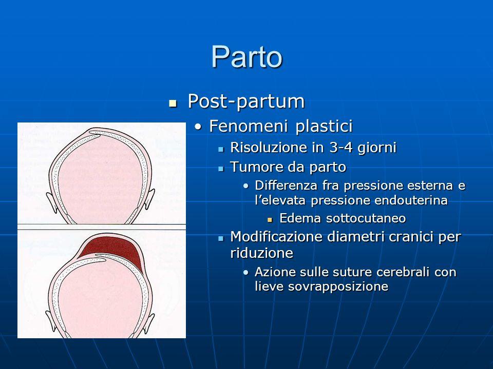 Parto Post-partum Fenomeni plastici Risoluzione in 3-4 giorni