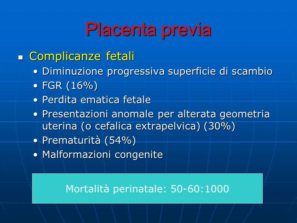 Mortalità perinatale: 50-60:1000