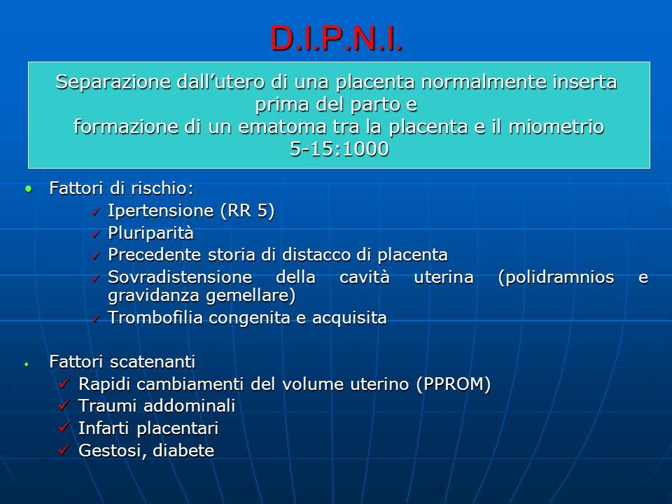 D.I.P.N.I. Separazione dall'utero di una placenta normalmente inserta