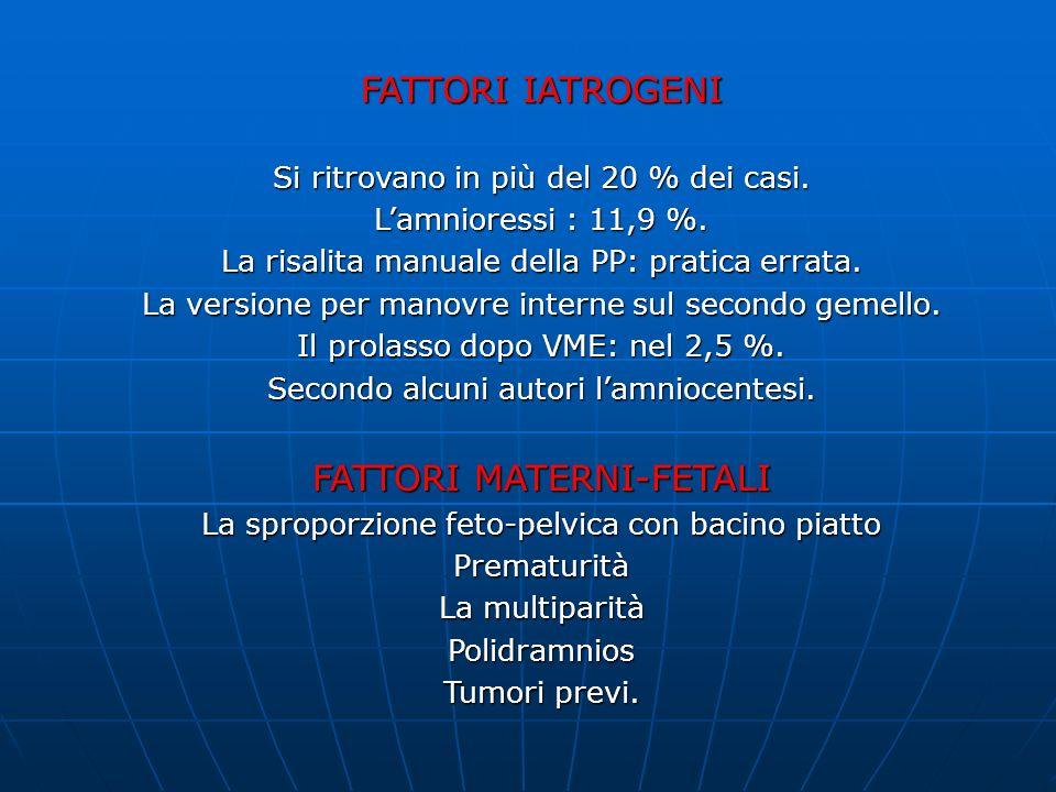 FATTORI MATERNI-FETALI