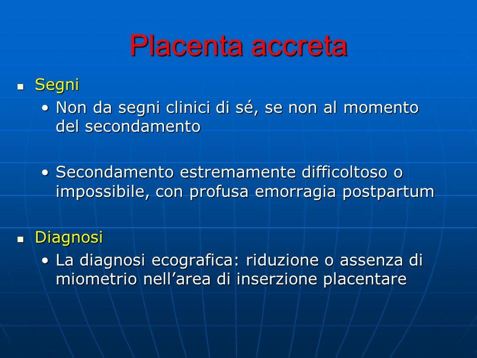 Placenta accreta Segni