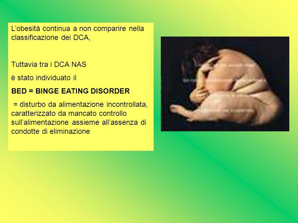 L'obesità continua a non comparire nella classificazione dei DCA,