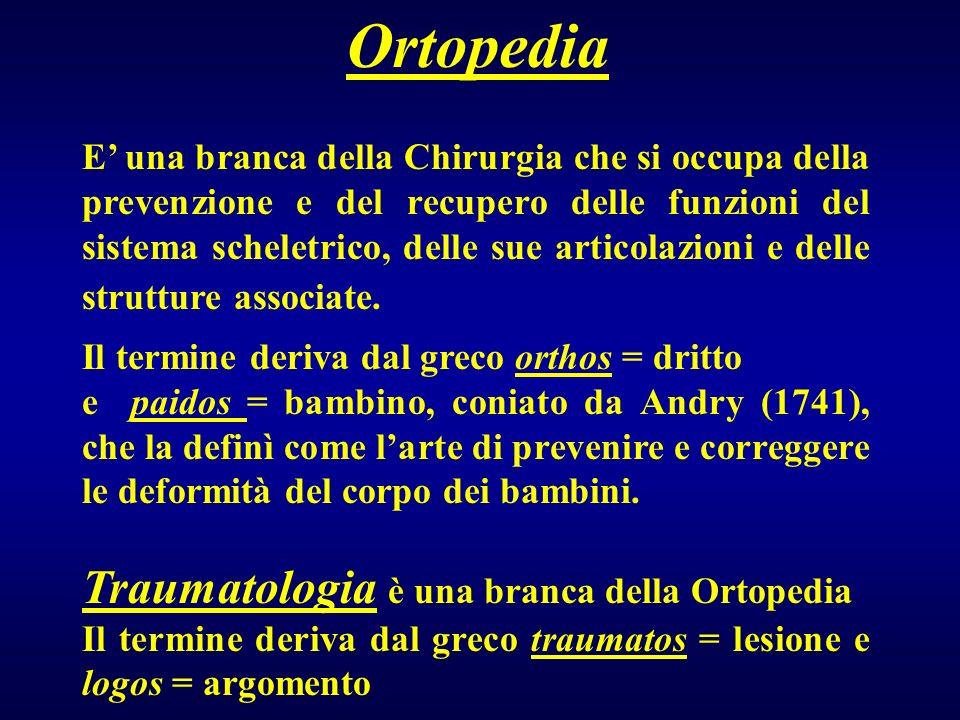 Ortopedia Traumatologia è una branca della Ortopedia