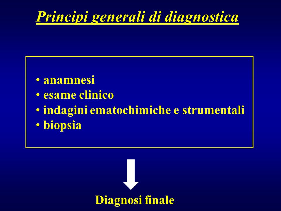 Principi generali di diagnostica