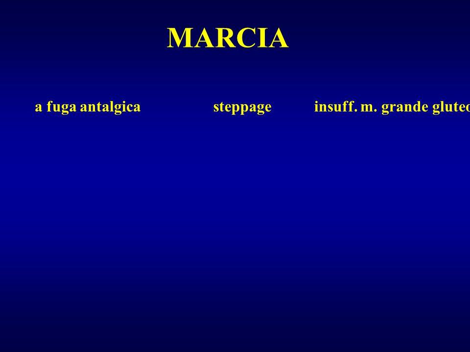MARCIA a fuga antalgica steppage insuff. m. grande gluteo